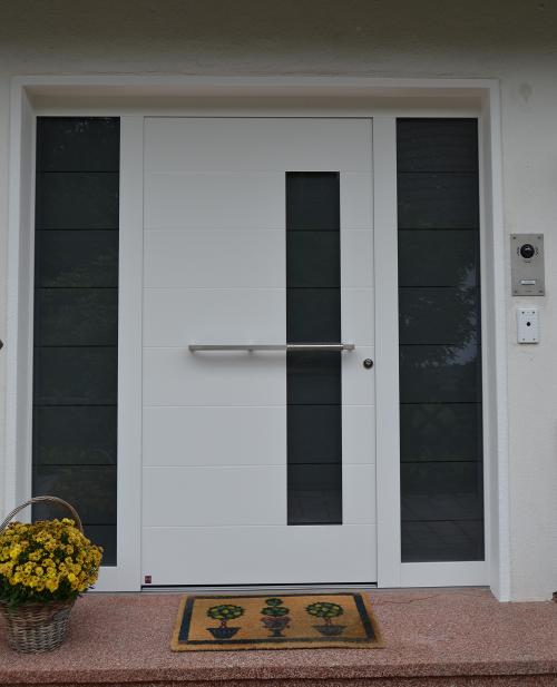 Haustüre Weiß verglasung hörmann haustüren